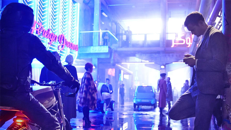 Illustration for article titled Our First Look at the Neon Noir World of Duncan Jones' New MovieMute