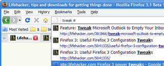 Illustration for article titled Firefox 3.1 Adds Keyword Filters to the AwesomeBar