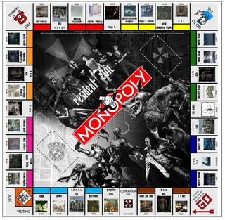 Illustration for article titled Resident Evil Monopoly Does Not Pass Go, Does Not Collect Scattered Green Herbs