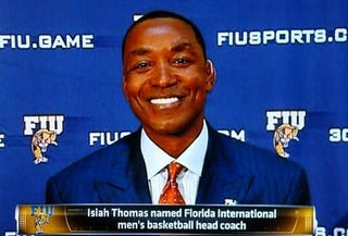 Illustration for article titled Isiah Thomas Promises No More Sex Harassing, Suicide Attempts, Personal Salaries