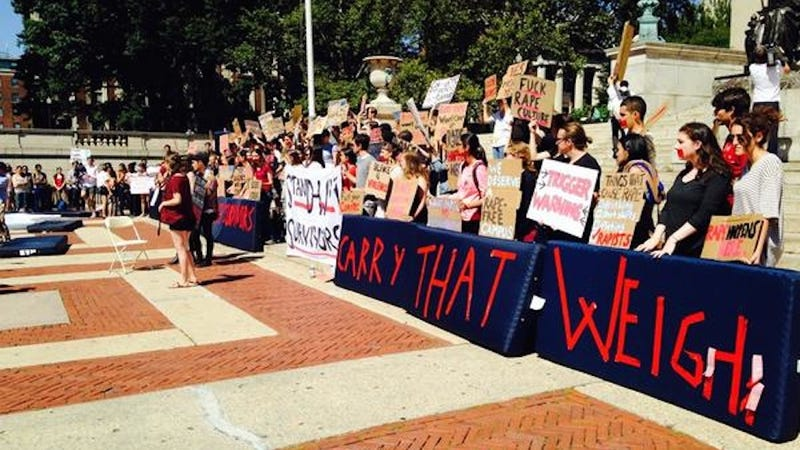 Illustration for article titled Columbia Students Drag Mattresses Onto Campus to Support Rape Survivor