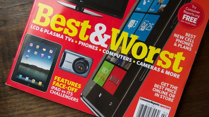 Illustration for article titled Why Won't Consumer Reports Recommend Its Highest-Rated Phone?
