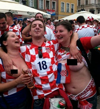 Illustration for article titled Two Croatian Government Workers Are In Trouble For Flashing Everyone At Euro 2012
