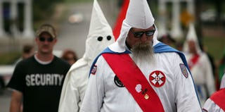 Ku Klux Klan holds annual gathering in Tennessee in 2009 (Spencer Platt/Getty Images)