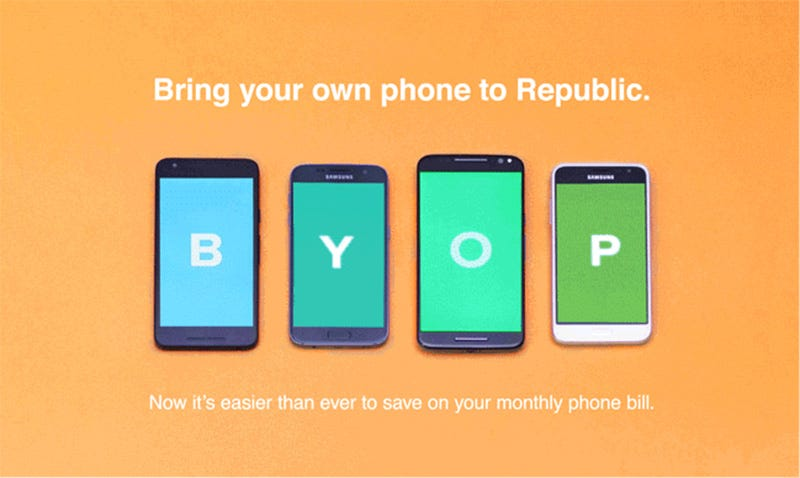 Illustration for article titled Republic Wireless Now Allows You to Bring Your Own Phone