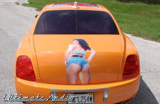 Illustration for article titled Daisy Duke Adorns Bentley Continental's Bulbous Butt