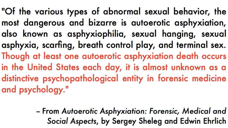 Asphyxiation sexually
