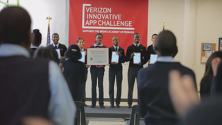 Six teens from the Bronx Academy of Promise in New York City star in a Verizon commercial about an app they created that won Best in Nation at the 2013 Verizon Innovative App Challenge. Youtube