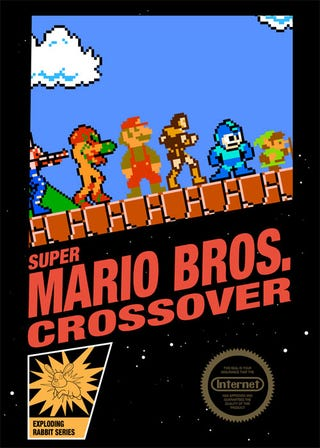 Illustration for article titled Super Mario Crossover Gets Crossover Box Art