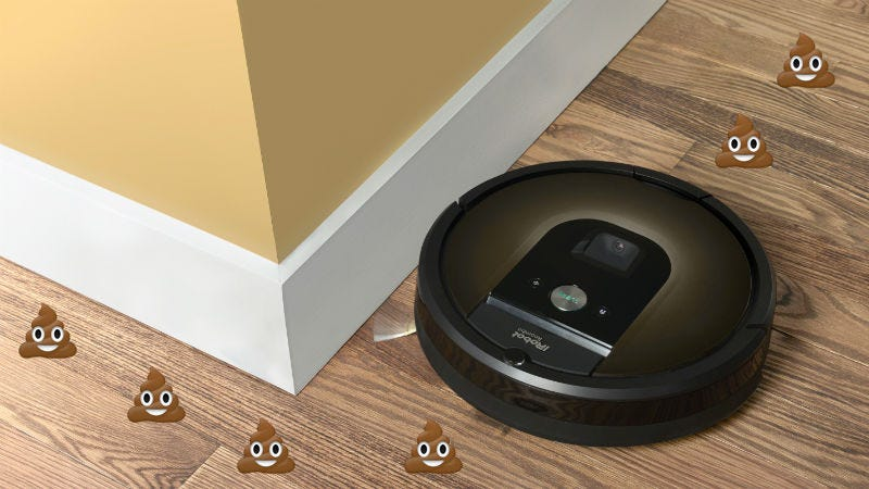 Illustration for article titled Creators of the Roomba Admit That It Smears Shit Around People's Homes 'a Lot'