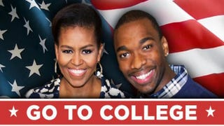 Michelle Obama and Jay Pharoah        College Humor