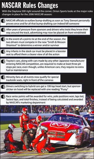 Illustration for article titled NASCAR Rules Changes