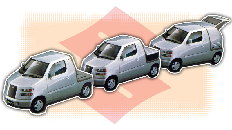 Illustration for article titled Suzuki's 1995 UT-1 Concept Makes Cold, Modular Rationality Fun, Somehow