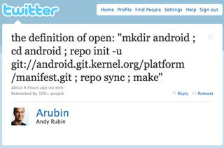 Illustration for article titled Google's Andy Rubin Takes a Pop at Steve Jobs on Twitter in Nerd Language