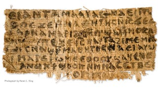 Illustration for article titled Newly revealed papyrus fragment mentions Jesus's wife