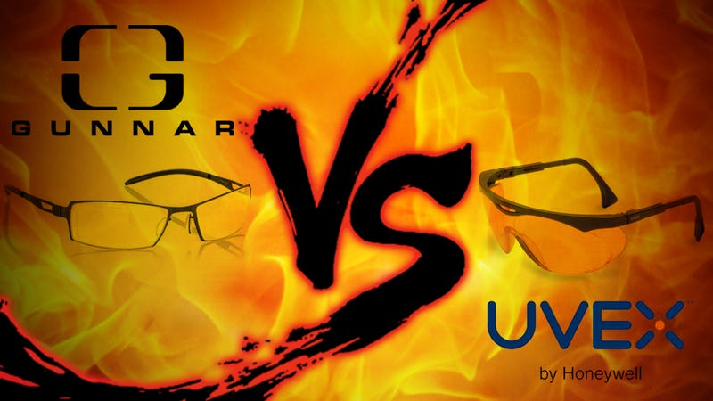 Illustration for article titled Computer Glasses Showdown: Gunnar Optiks vs. Uvex