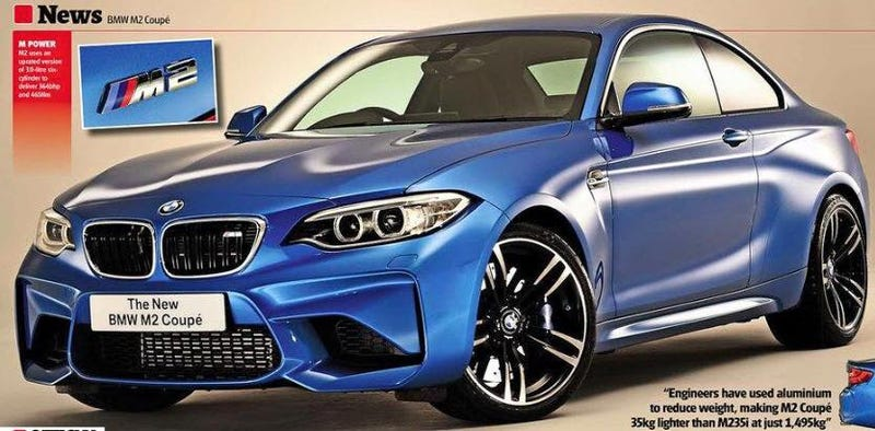 Illustration for article titled 2016 BMW M2: This Is It