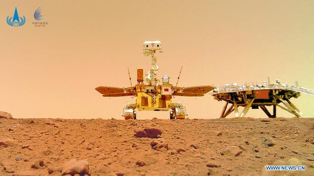 China's New Rover Captures Unique Selfie on Mars