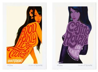 Illustration for article titled Bond Girls transformed into gorgeous Bond novels titles