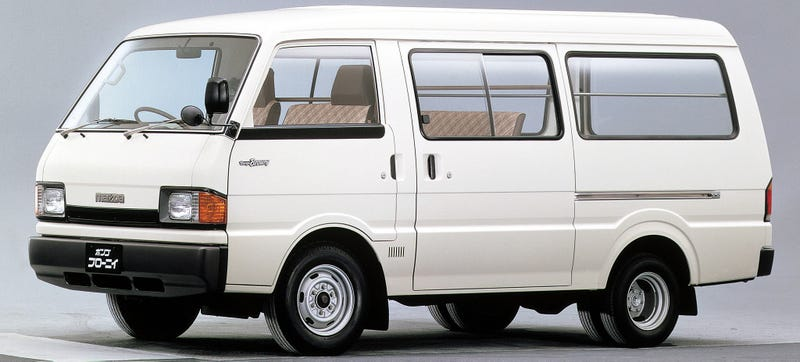 Illustration for article titled The Mazda Bongo Brawny Is The Best Dually Van Named After A Towel