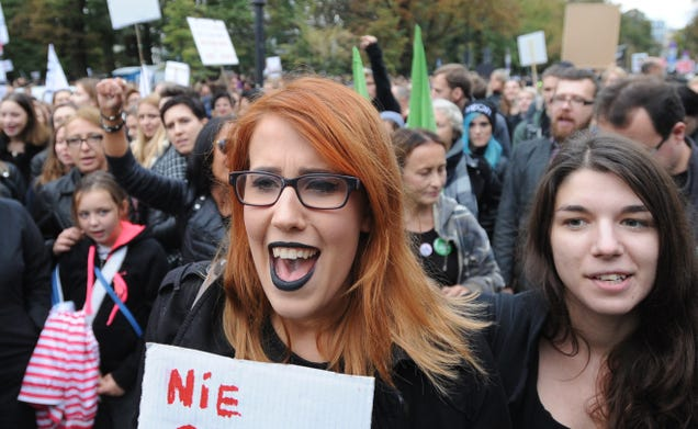 European Women Are Going On Strike To Protest a Proposed Law to Ban All Abortions in Poland