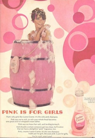 """Illustration for article titled """"Pink Is For Girls"""""""