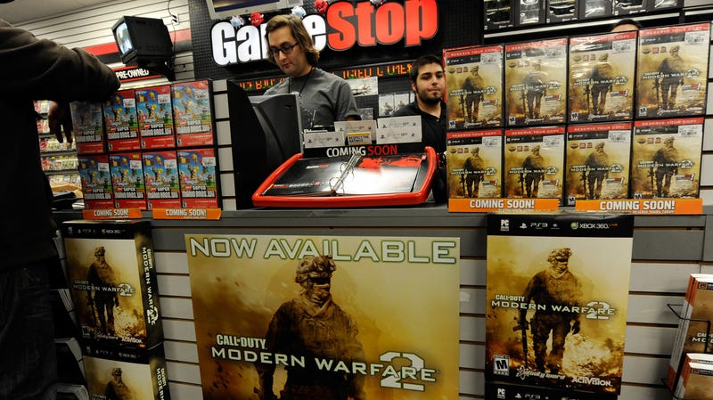 A Gamestop store in better times: 2009.