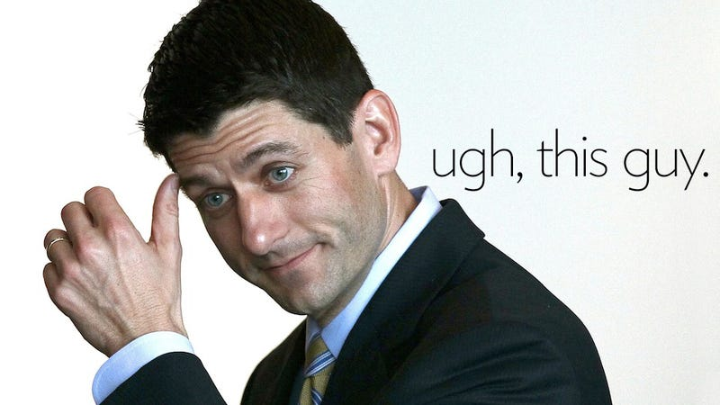 Illustration for article titled 9 Depressingly Kooky Facts About Paul Ryan