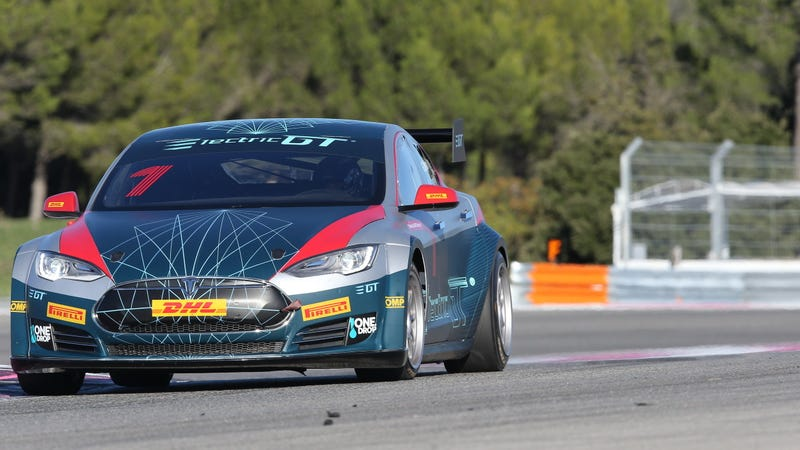 Illustration for article titled The Spec Tesla Electric GT Championship Has Released Its Season One Schedule