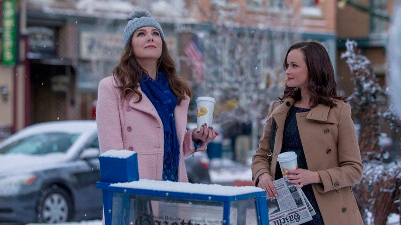 "Illustration for article titled Gilmore Girls: A Year In The Life (re)starts with a warm ""Winter"" welcome"