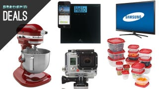 Illustration for article titled KitchenAid Under $200, the Cheapest GoPro, the Best Tupperware [Deals]
