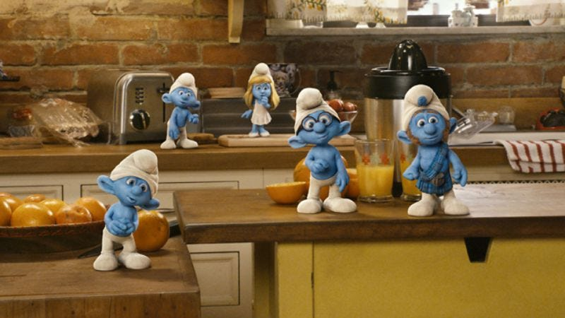 Illustration for article titled The Smurfs
