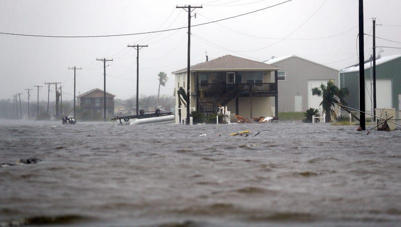 Rockport, Texas, on Saturday. (AP)