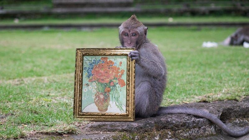 Illustration for article titled Clash Of Titans: The San Diego Zoo Is Locked In A Tense Legal Dispute With The Louvre Over Who Gets To Keep A Monkey Holding A Van Gogh Painting
