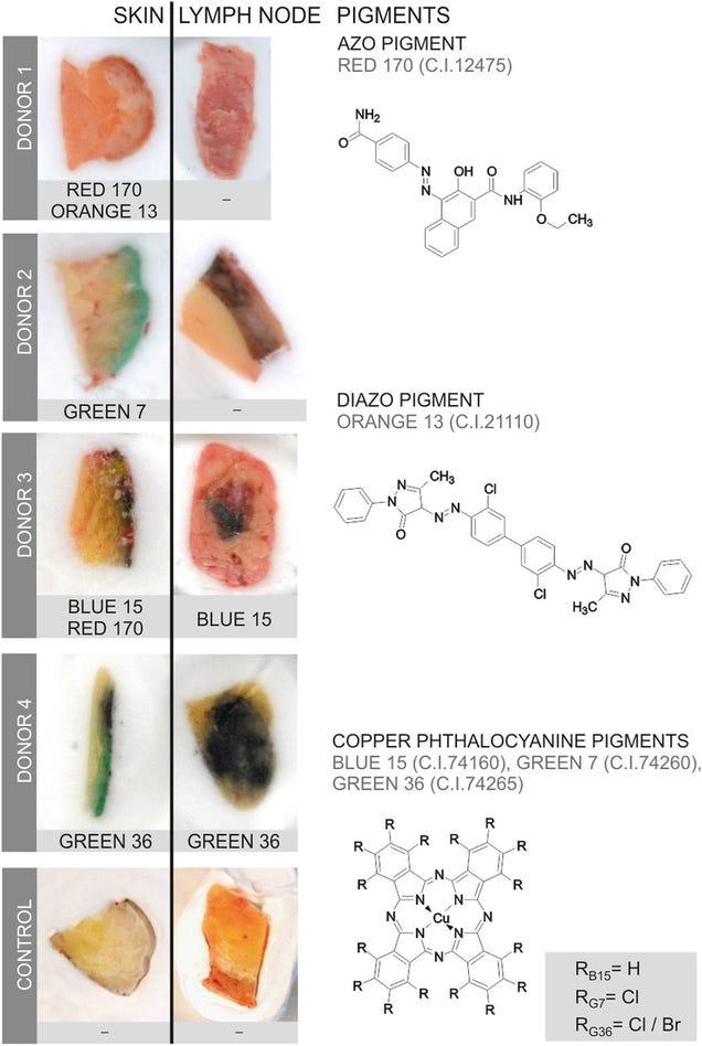 Partikel in Tattoos können zu Lymphknoten reisen, Studien finden