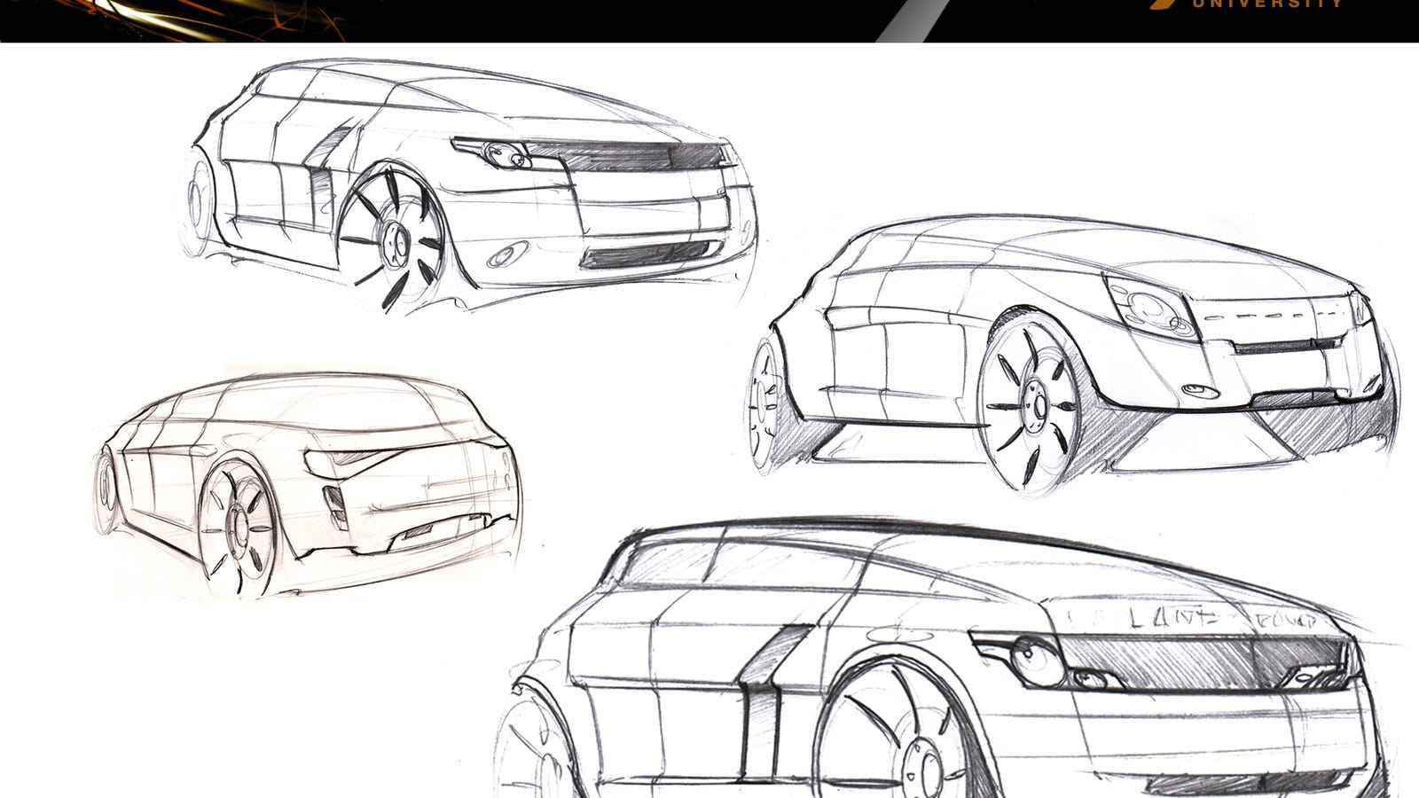 Range Rover Sketch on Chevrolet Volt Interior