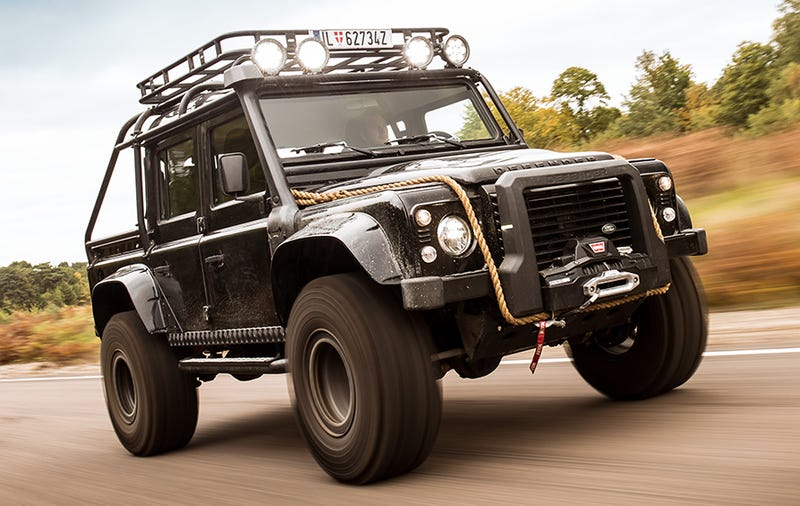 The Insane Land Rover Defender Svx Is More Of A Stuntman Than Movie Star