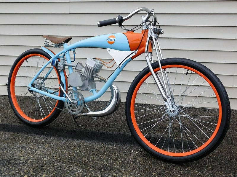 Craigslist Debunking: Vintage bicycle racing track gas bike scooter ...