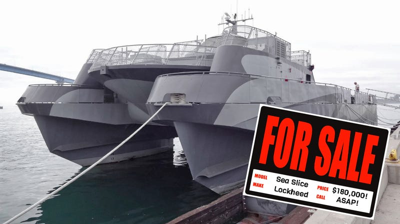 Illustration for article titled You Can Buy This Crazy Experimental Littoral Combat Ship For $180,000!