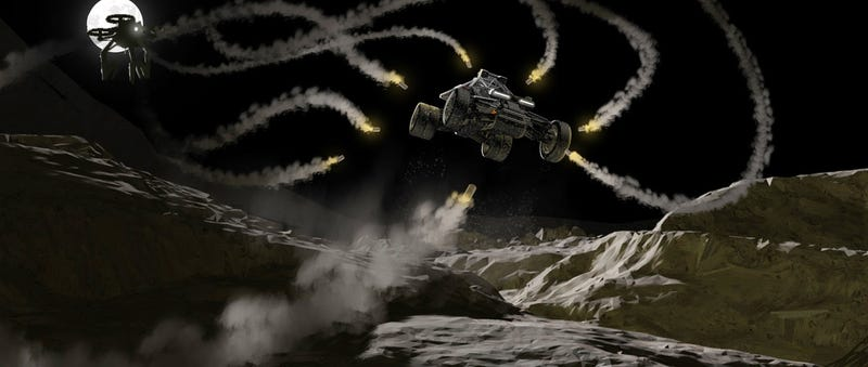 Illustration for article titled In Space, No One Can Hear Your Gnarly Missile Jumps