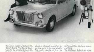 Graham Hill advert for MG, October 1963