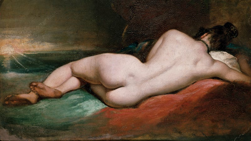 William Etty's Nude Woman Reclining