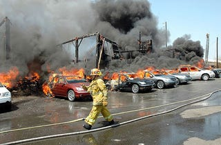 Illustration for article titled Dozens Of New Cars Destroyed In Los Angeles Warehouse Fire