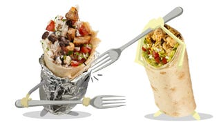 Illustration for article titled Burrito Smackdown: Chipotle Vs. Qdoba