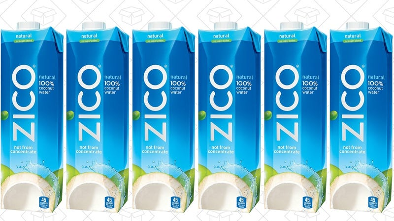 6-Pack ZICO 34 oz. Coconut Water Cartons, $10 with Subscribe & Save
