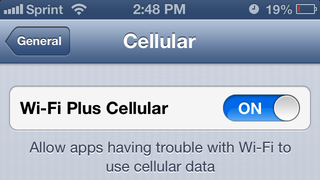 Illustration for article titled iOS 6's New Wi-Fi Plus Cellular Will Keep You Connected