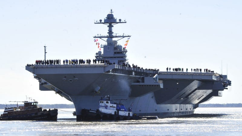 President Trump calls for reverting to steam catapult aboard new aircraft carriers