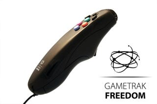 Illustration for article titled In2Games Gametrak Freedom Motion Controller for PS3 and 360 Pics Surface (Don't Worry Wii)