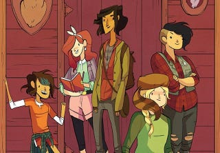 Illustration for article titled Nimona creator is writing a comic about monster-fighting girl scouts
