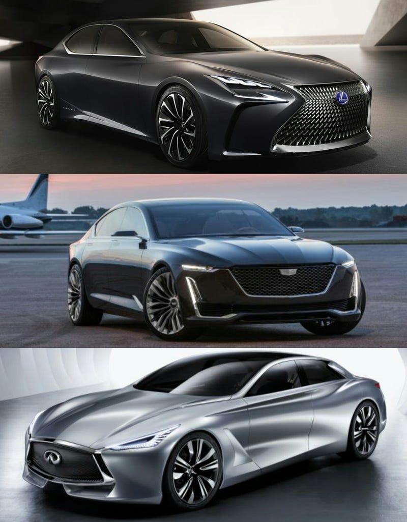 Illustration for article titled Big, luxury sedans for your morning